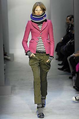 COLLECTIBLE runway BALENCIAGA pink wool SCHOOLBOY blazer jacket FR 40 US 4 NWT