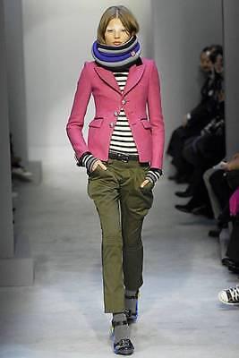 COLLECTIBLE runway BALENCIAGA pink wool SCHOOLBOY blazer jacket FR 40 US 4 NWT