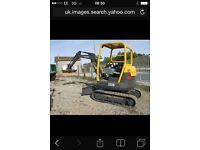 Mini digger hire operated/self drive from £80 (Kent , London)
