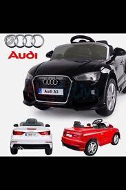 Official Audi A3, Parental Remote Control ,Self Drive Available In White,Red,Black,