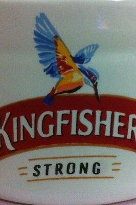 KINGFISHER BEER PUB BAR RESTAURANT CERAMIC ASHTRAY CIGARETTE CIGAR ASH BOWL BIRD
