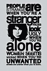 Jim Morrison The Doors A3 Size Poster  Print With Quote