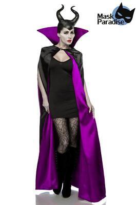 Maleficent Kostüm Malevolent Fairy mystisches Feenkostüm Fasching Karneval XS-M
