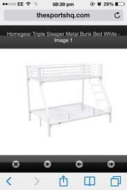 Double and single metal bunk bed