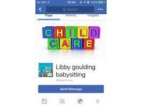 Libby Goulding babysitting