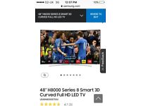 Curved Samsung serie 8 121cm