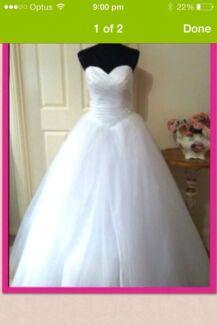 Deb or wedding dress with sparkle skirt
