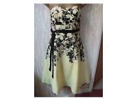 Jane Norman Yellow Floral Dress size 10