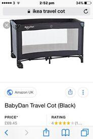 £10 Travel Cot Used Twice