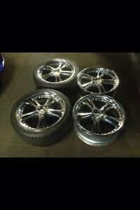 VE COMMODORE 20 inch chrome wheels 2 tyres Croydon Park Port Adelaide Area Preview