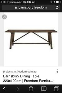 Barnsbury dining table Mango timber Regents Park Auburn Area Preview