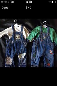 3 to 6 months next dungarees