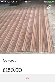 Brown stripped carpet
