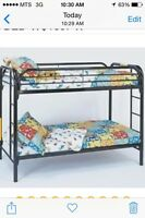 Metal bunk bed frame without (mattresses)