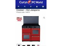 gas range cooker and hood