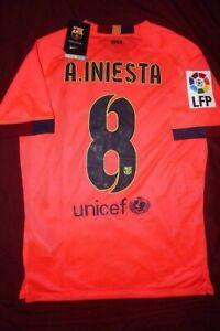 d849429f FC Barcelona 2014/15 Iniesta Away Jersey Small Medium Large Nike
