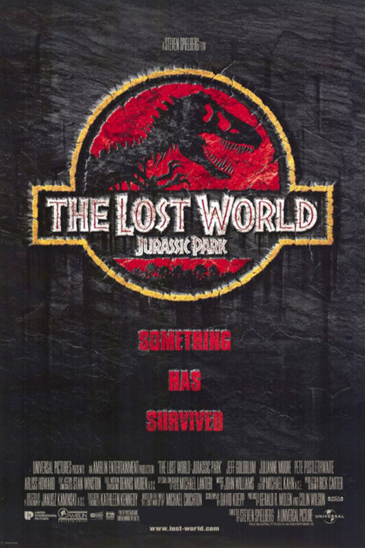 The Lost World: Jurassic Park (1997) Movie Poster, Reproduction, SS, NM, Rolled