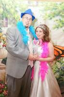 Affordable Wedding Photography - Free Photobooth area with props