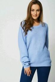 Ex branded blue textured sweater