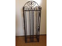 Black Wrought Iron CD tower