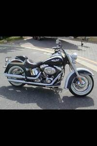 2010 Harley Davidson Heritage Softail Deluxe Black and White Quinns Rocks Wanneroo Area Preview