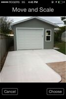 12x16 Garage built on site $ 9995.00 other sizes available
