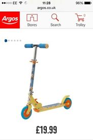 2 brand new minions scooters