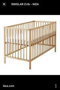 Basic crib and mattress