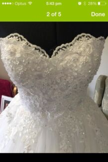 Deb or wedding dress with lace skirt