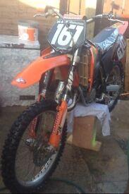 Ktm 125 sx motocross bike scrambler
