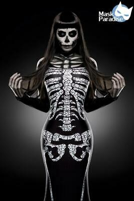 Skeleton Lady - Hallween Kostüm - Karneval - Skelett - Horror - Grusel - Damen