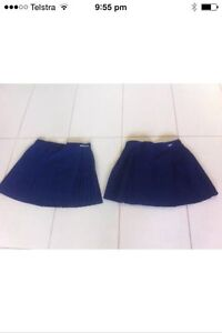 Navy blue netball tennis skirts girls size 10 Trinity Park Cairns Area Preview