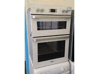 Bo22 white beko double electric integrated oven comes with warranty can be delivered or collected