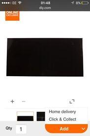 Gloss black wall tiles 600x300 0.8m2