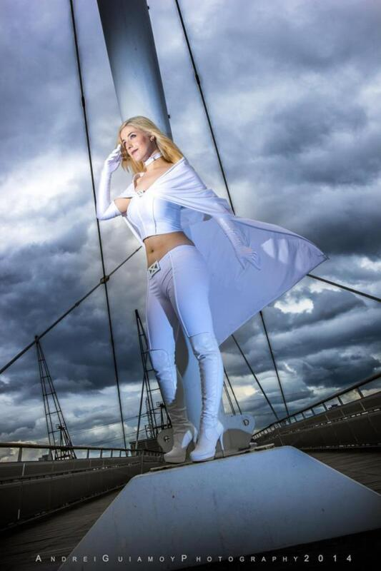 Marvel Emma Frost cosplay Image via HollySocks Photography by Andrei Guiamoy Photography