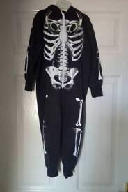 Child's skeleton Halloween onesie