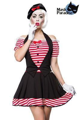 ATX 80031 Sexy Damen Kostüm Fasching Karneval Mime Pantomime - Damen Sexy Mime Kostüm