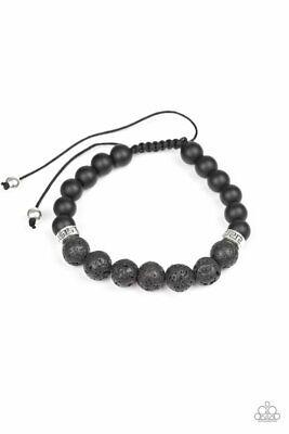 Cool String Bracelets (Keep your cool Black Lava Rock Urban Style Bracelet Pull)