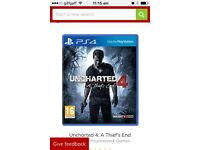 Ps4 uncharted 4 new and still sealed