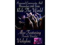 "A Tribute to TAKE THAT by ""RULE THE WORLD"" and supported by female vocalist 'VICKYLOU'"