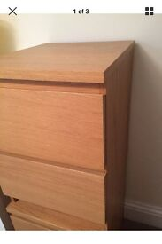 Malm bedside tables