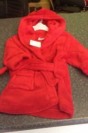 6-12 Months red robe / dressing gown