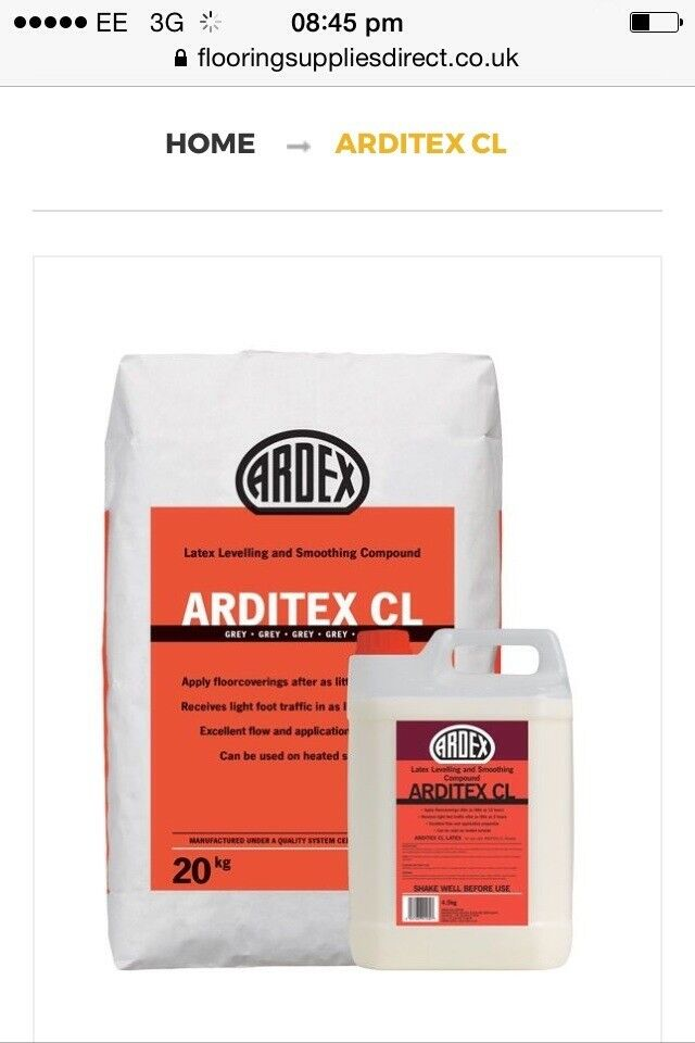 Arditex CL levelling and smoothing compound