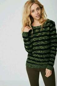 Ex branded army stripe Mohair knit Jumper