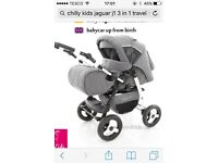 Chilli kids Jaguar J1 pram and car seat great condition