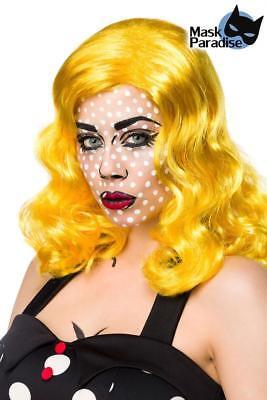 ATX 80024 Halloween Karneval Damen Perücke Pop Art Hair Comic Einheitsgrösse