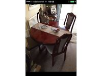 Solid wood dining table & 4 chairs swap flat screen TV can deliver Leicester