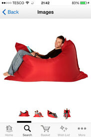 extra large red bean bag - teenagers room