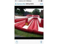 Bouncy castle bungee run