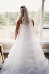 Beautiful cathedral length veil for sale